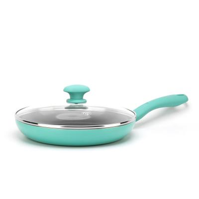 11 in. Turquoise Diamond Ceramic NonStick Covered Frypan