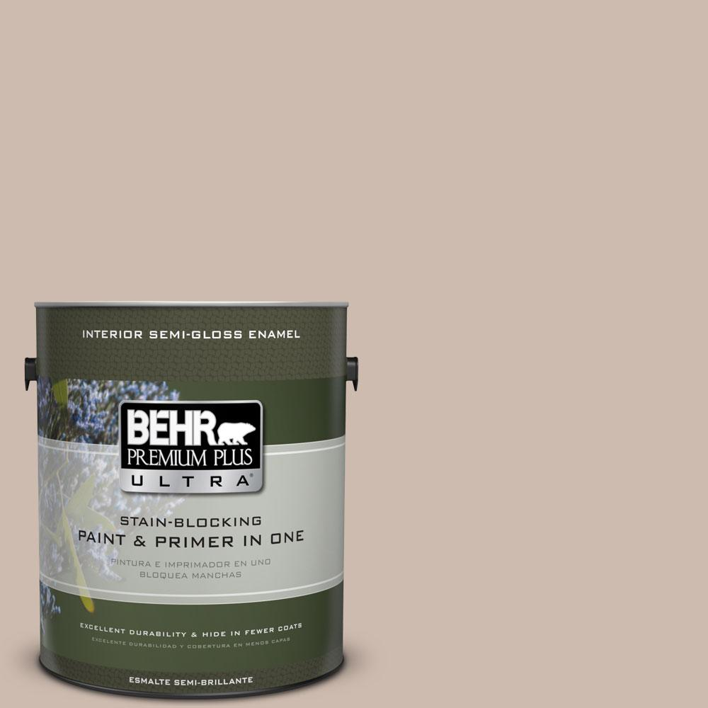 1-gal. #N190-3 Windrift Beige Semi-Gloss Enamel Interior Paint