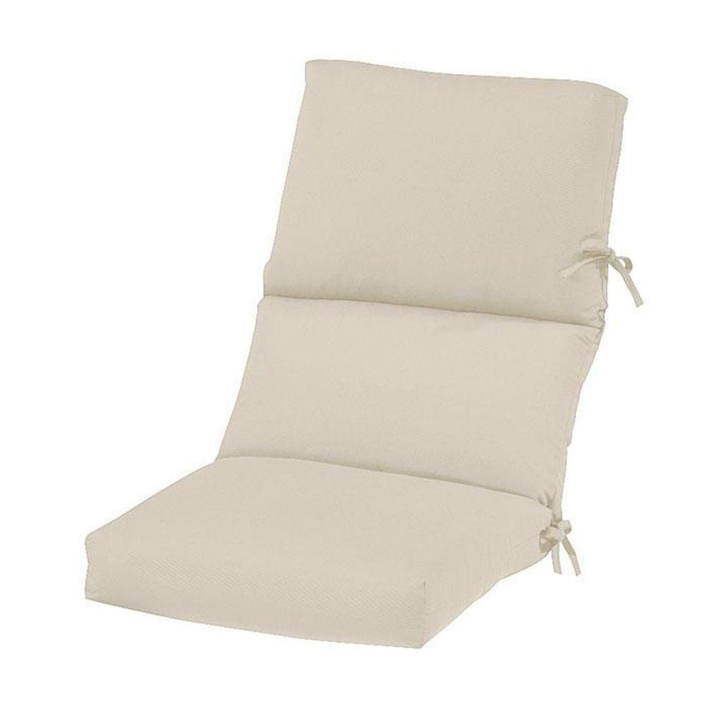 null Vellum Sunbrella High Back Outdoor Chair Cushion