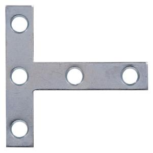 4 x 4 in. Zinc Plated T-Plate (5-Pack)