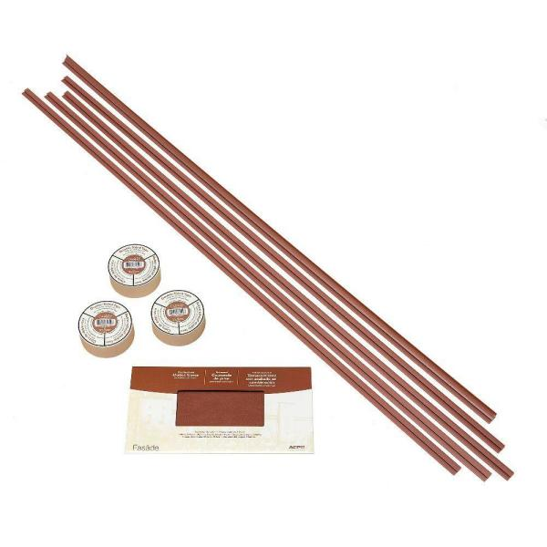 Fasade Large Profile Backsplash Accessory Kit with Tape in Argent Copper