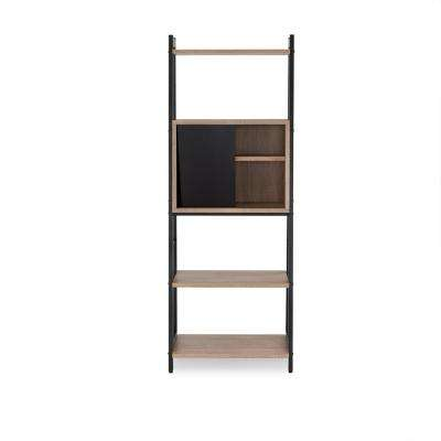Finis Light Oak and Black Open Bookcase
