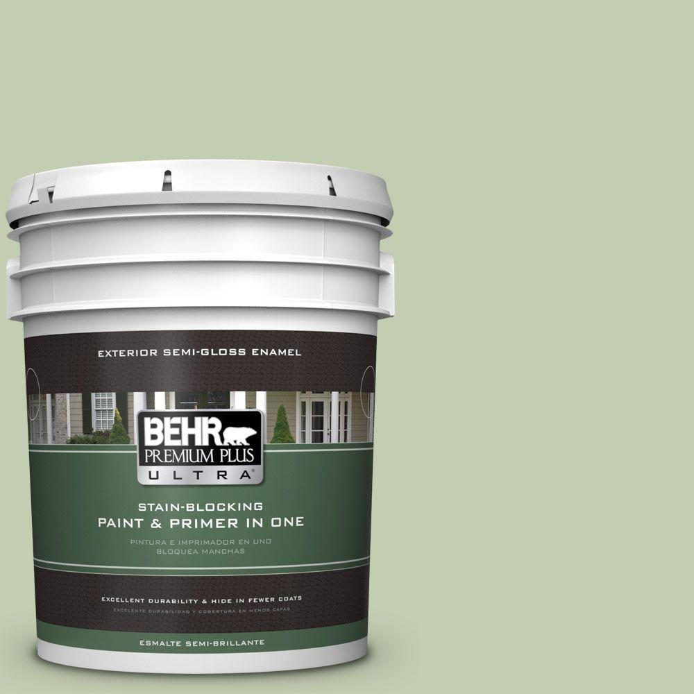 5-gal. #M380-3 Growing Season Semi-Gloss Enamel Exterior Paint