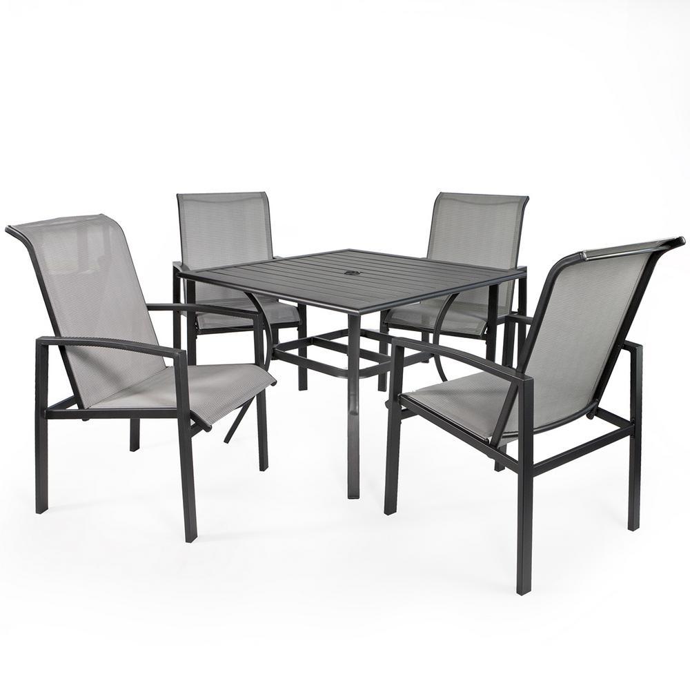 Vienna 5-Piece Metal Sling Outdoor Patio Dining Set