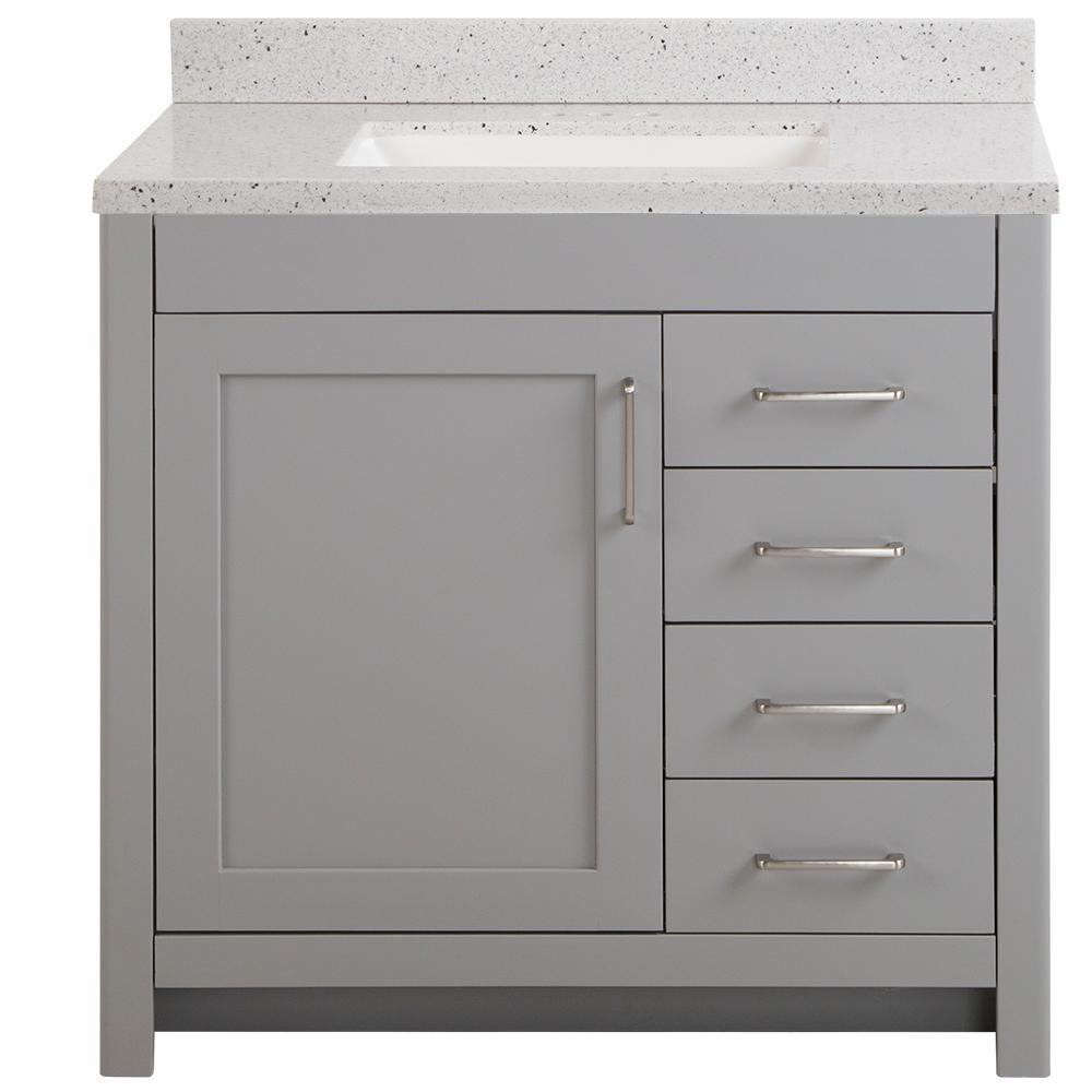 Home Decorators Collection Westcourt 37, Bathroom Vanity Sinks Home Depot