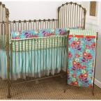 Lagoon Cotton Floral Front Crib Rail Cover Up