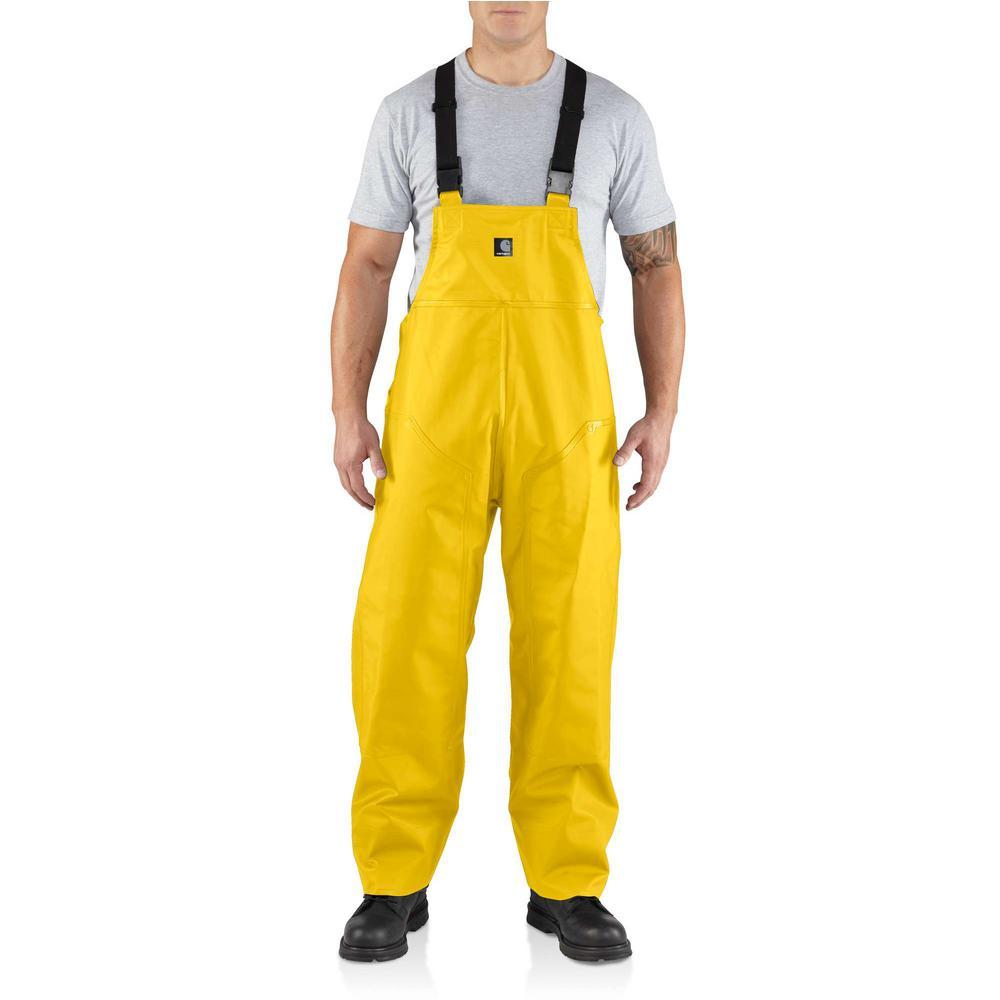 87d57e5fc6 Carhartt Men S Medium Tall Yellow PVC Polyester Surrey Bib Overalls ...