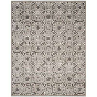 Amherst Light Gray/Ivory 8 ft. x 10 ft. Indoor/Outdoor Area Rug