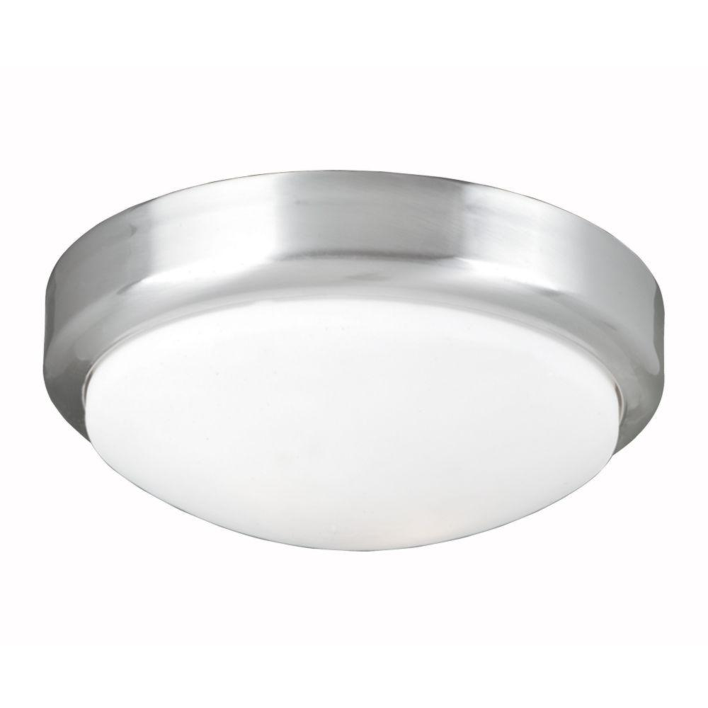 World Imports 2-Light Chrome Flushmount with Frosted Glass