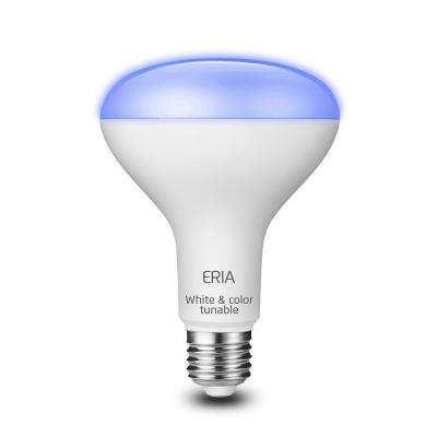 ERIA 65-Watt Equivalent BR30 Dimmable CRI 90+ Wireless Smart LED Light Bulb Multi-Color