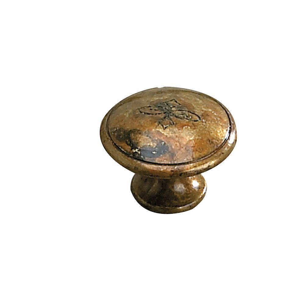 Richelieu Hardware 1-1/8 in. Oxidized Brass Cabinet Knob