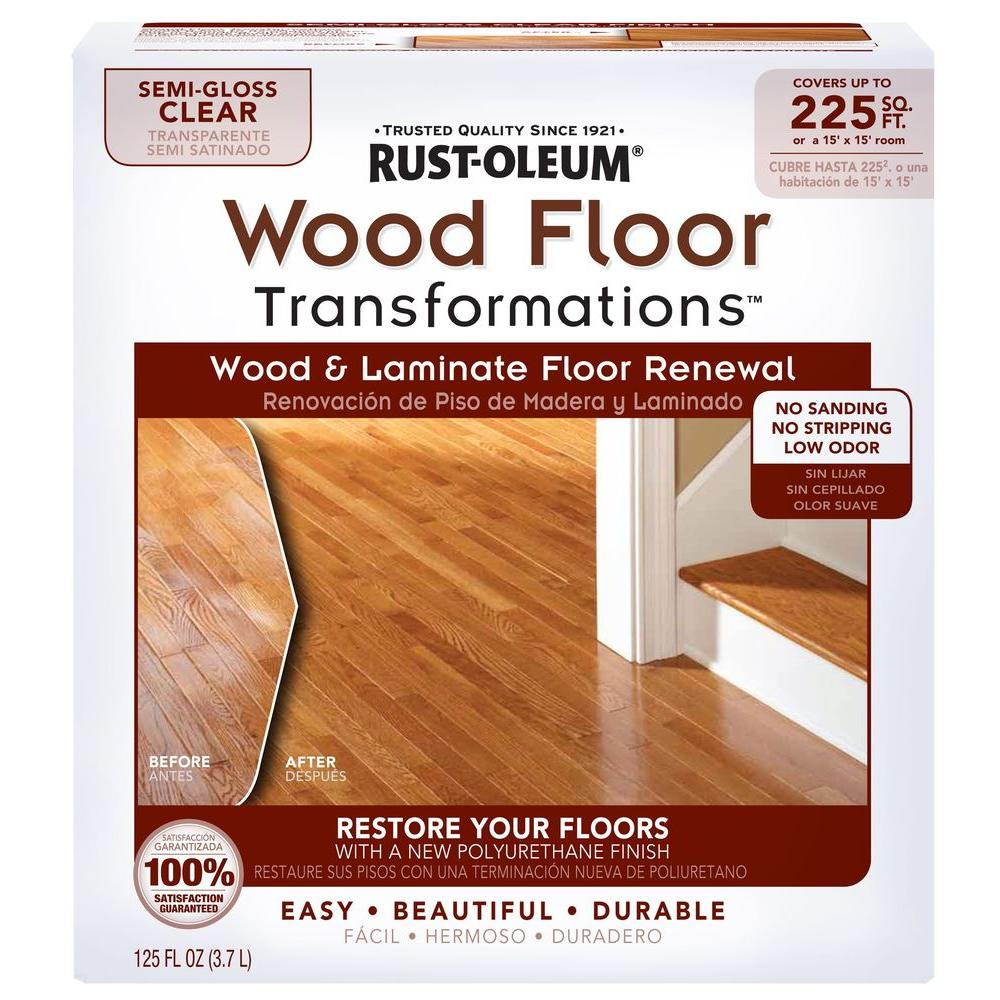 Rust-Oleum Transformations Floor Wood and Laminate Renewal Kit (Case ...