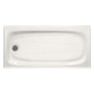 Salient 60 in. x 30 in. Single Threshold Base in White
