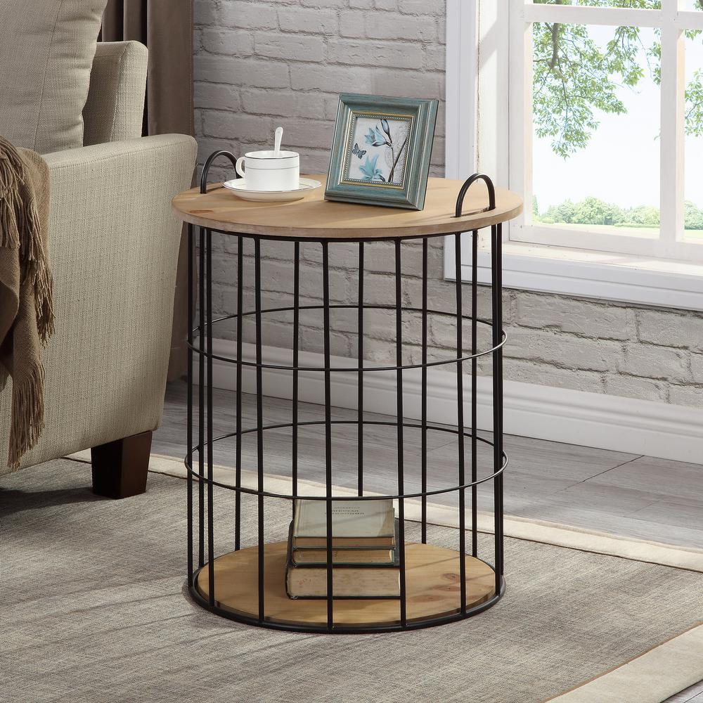 30 in. Arborfield Basket Storage Table