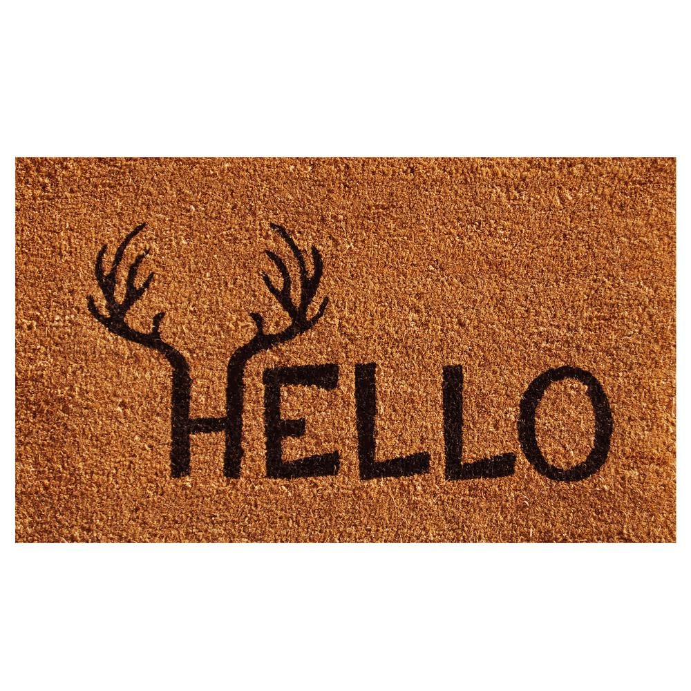Antler Hello Door Mat 17 in. x 29 in.
