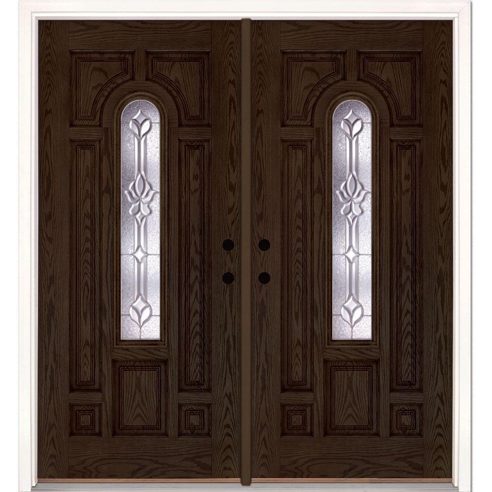 72 X 80 Double Door Fiberglass Doors Front Doors The Home Depot