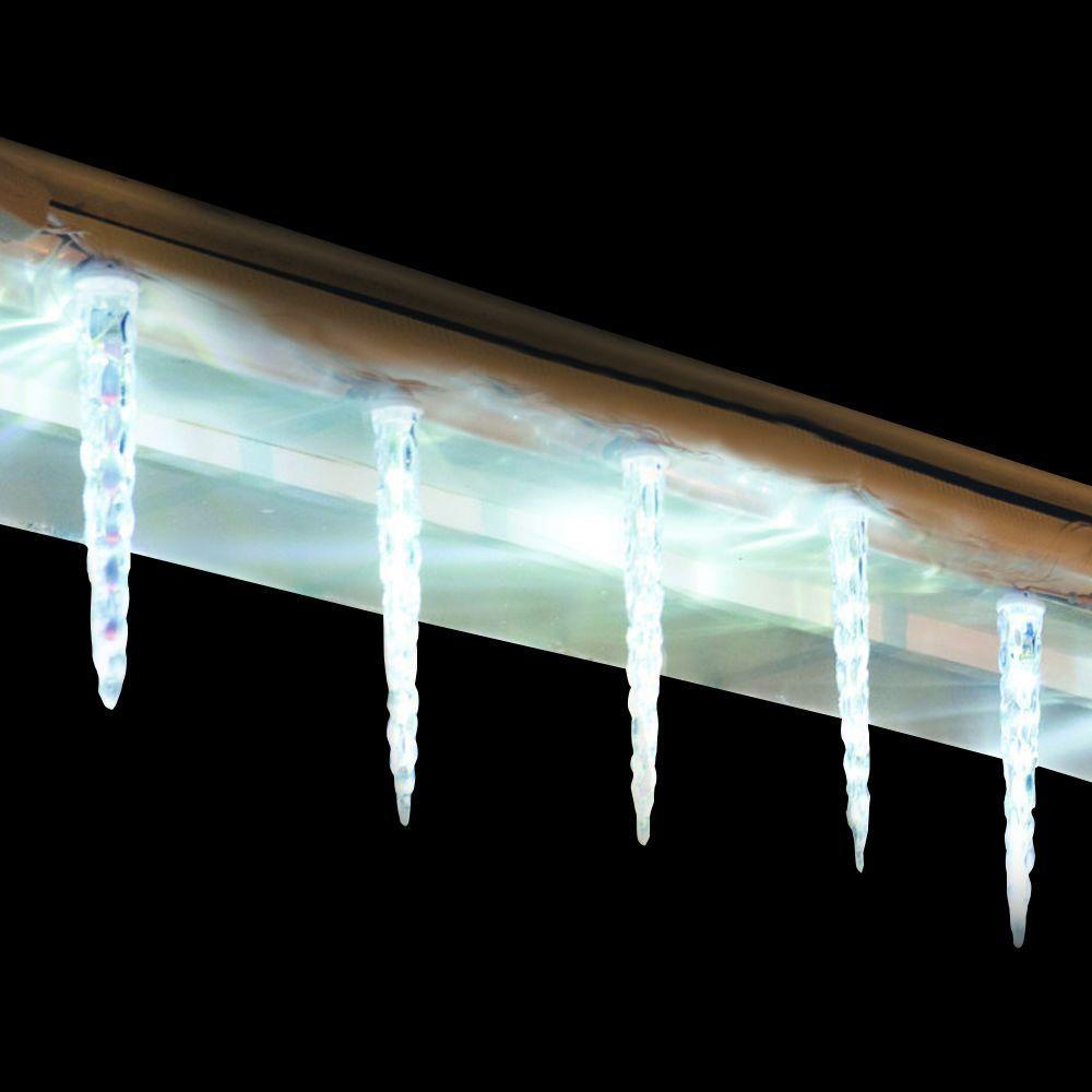 8-Light Crystal White Falling Snow Light