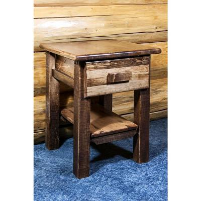 Homestead Collection 1-Drawer Stain and Lacquer Nightstand