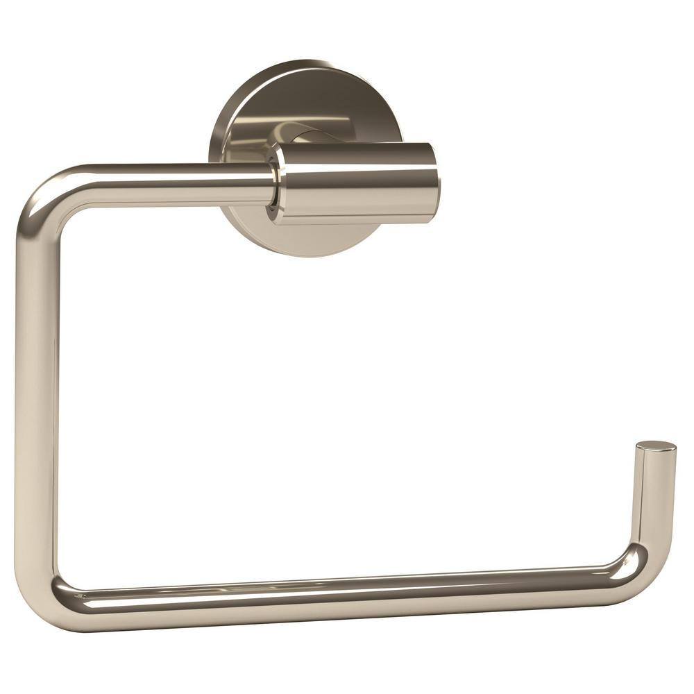 Arrondi 6-7/16 in. L Towel Ring in Polished Stainless Steel