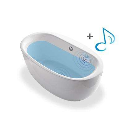 Sunstruck 5.5 ft. Acrylic Classic Flatbottom Non-Whirlpool Bathtub in White with Wireless Music Kit