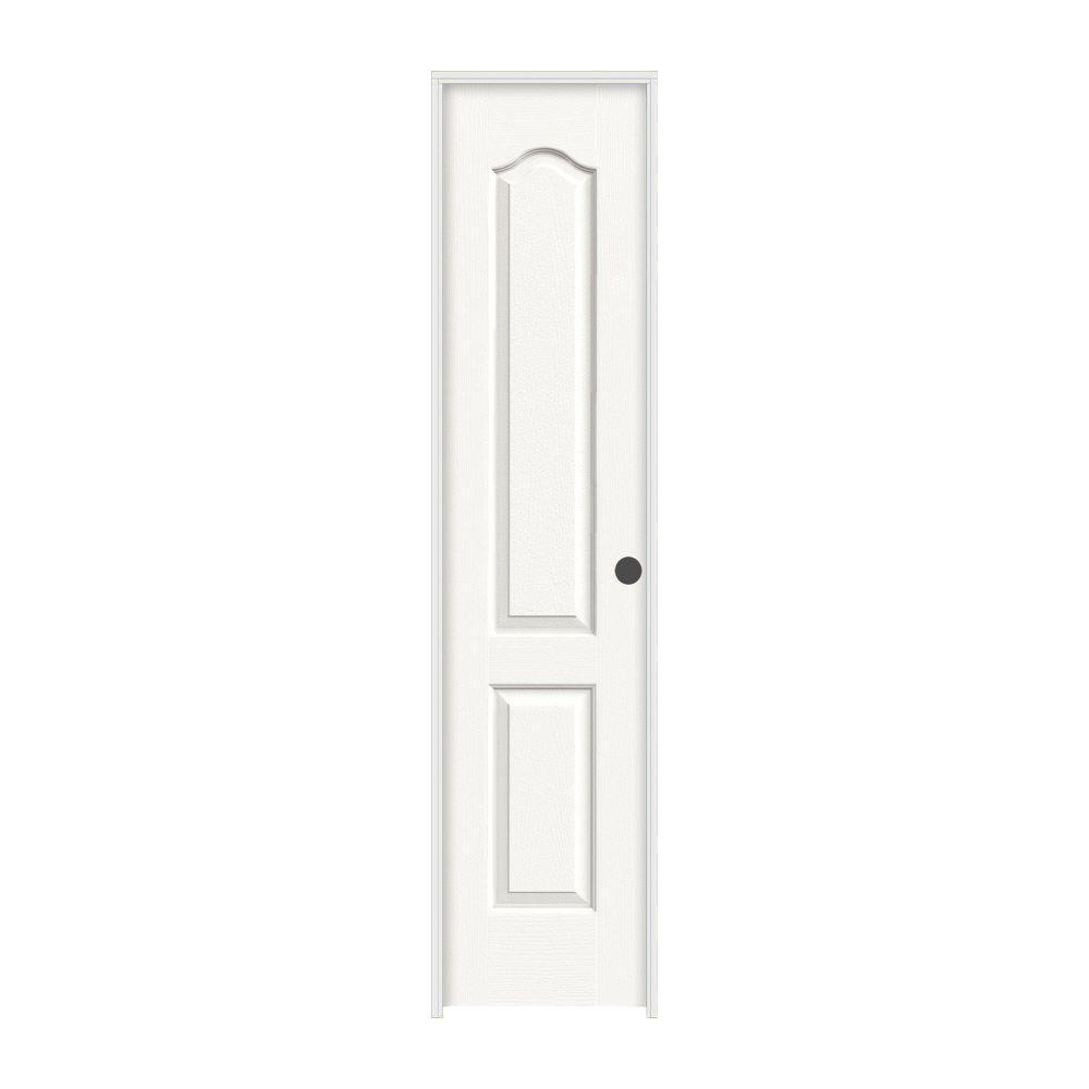 JELD-WEN 18 in. x 80 in. Princeton White Painted Left-Hand Smooth Solid Core Molded Composite MDF Single Prehung Interior Door