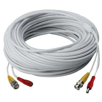 120 ft. High Performance In-Wall UL/cUL Rated BNC Video/Power Cable for DVR Security Systems