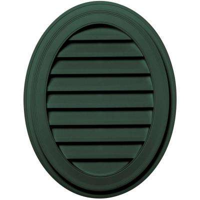 27 in. Oval Gable Vent in Forest Green