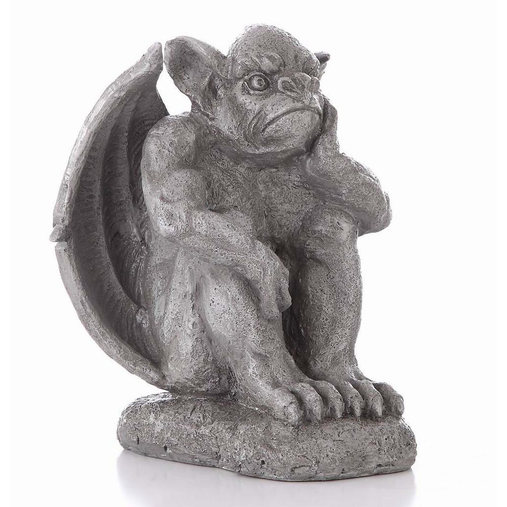 Gargoyle Sitting With Hand On Face