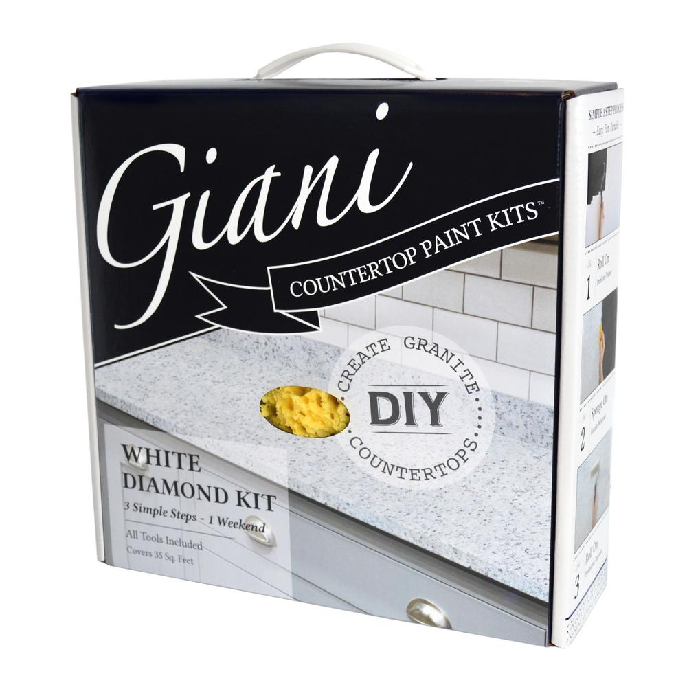 Giani Granite White Diamond Countertop Paint Kit