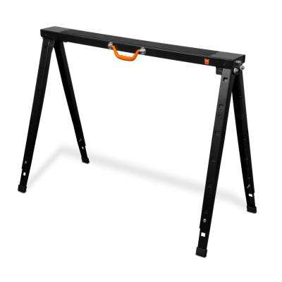 38 in. Adjustable Folding Height Steel Sawhorse 1500 lbs. Capacity