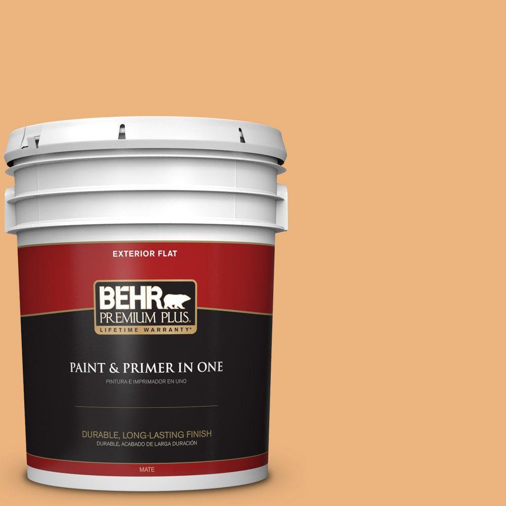 5-gal. #ICC-100 Eastern Amber Flat Exterior Paint