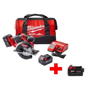 Milwaukee M18 FUEL 18-Volt Lithium-Ion Brushless Cordless 5-3/8 inch Circular Saw Kit w/ (3) 5.0Ah Batteries,... by Milwaukee