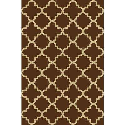 Hamam Collection Brown 1 Ft. 6 In. X 2 Ft. 7 In.