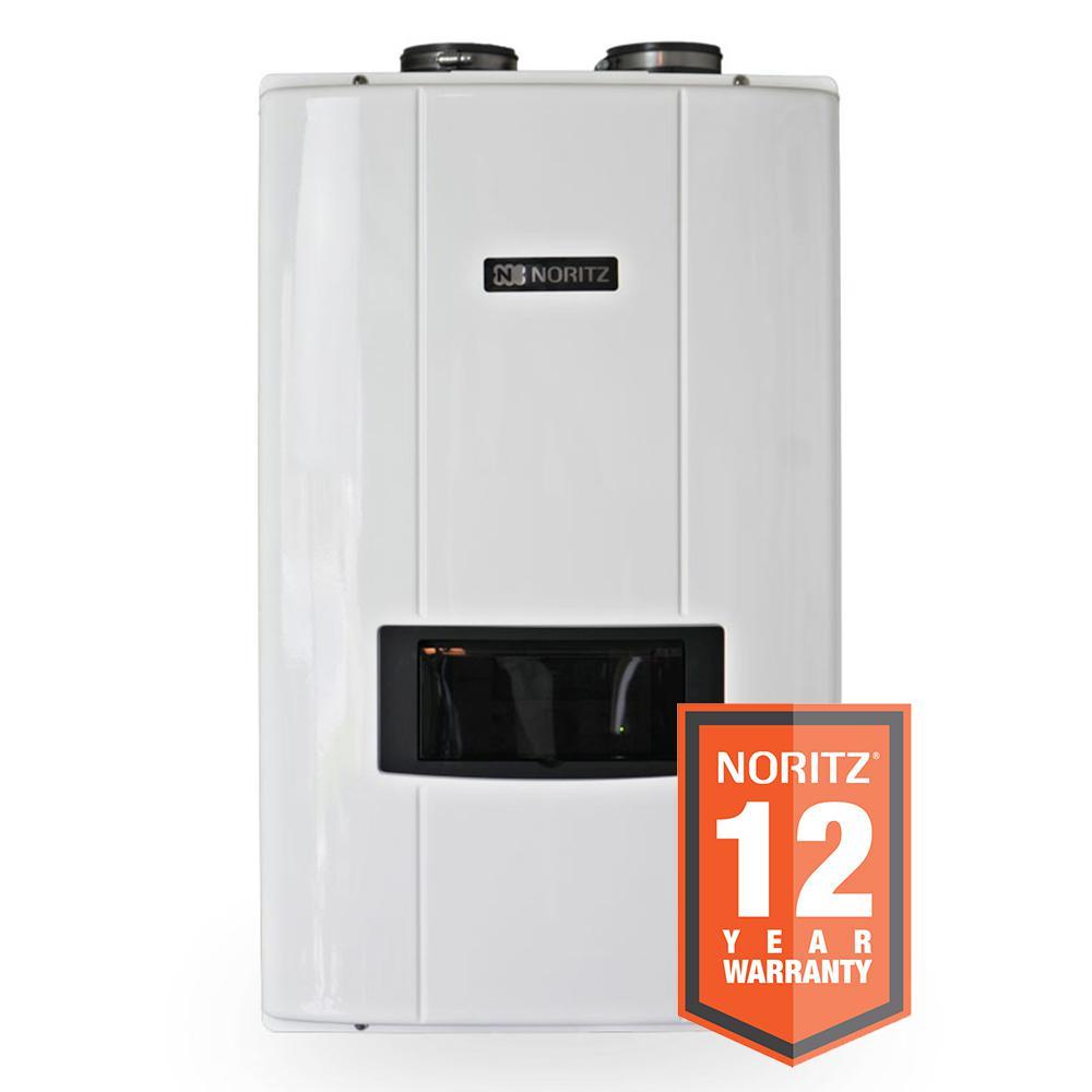 11.1 GPM Liquid Propane Indoor Direct Vent Recirculating Tankless Water Heater Max 199,000 BTU/H
