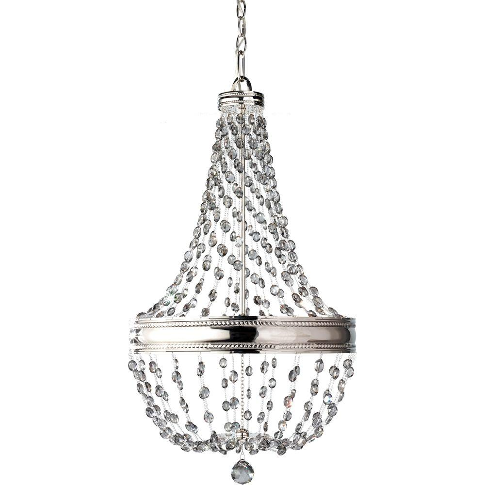 Feiss Malia 6-Light Polished Nickel 1-Tier Chandelier