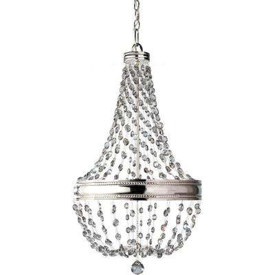 Malia 6-Light Polished Nickel 1-Tier Chandelier