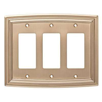 Classical 3-Gang Decorator, Champagne Bronze