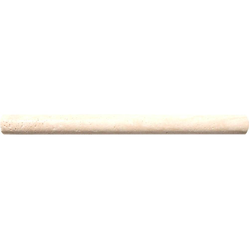 MS International Chiaro 3/4 in. x 12 in. Travertine Pencil Molding Wall Tile