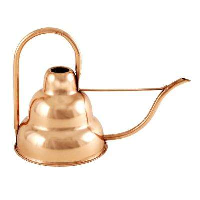 8.25 in. Tall Copper Plated 3-Tiered Modern Deco Watering Can