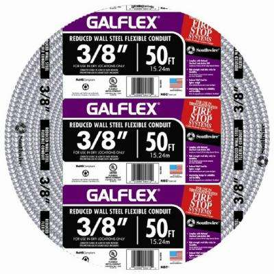 3/8 in. x 50 ft. Galflex RWS Metallic Armored Steel Flexible Conduit