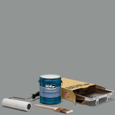 1 gal. #780F-5 Anonymous Ultra Satin Enamel Interior Paint and 5-Piece Wooster Set All-in-One Project Kit