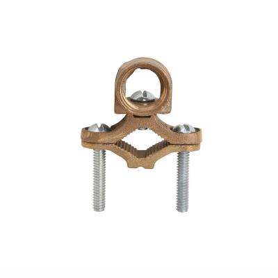 1/2 - 1 in. Type-JH Bronze Ground Rod Clamp for #8 to #4 AWG Wire (Case of 10)