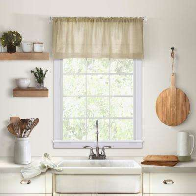 Elrene Cameron Single Window Kitchen Valance in Linen - 60 in. W x 15 in. L