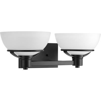 Domain Collection 2-Light Black Bath Light