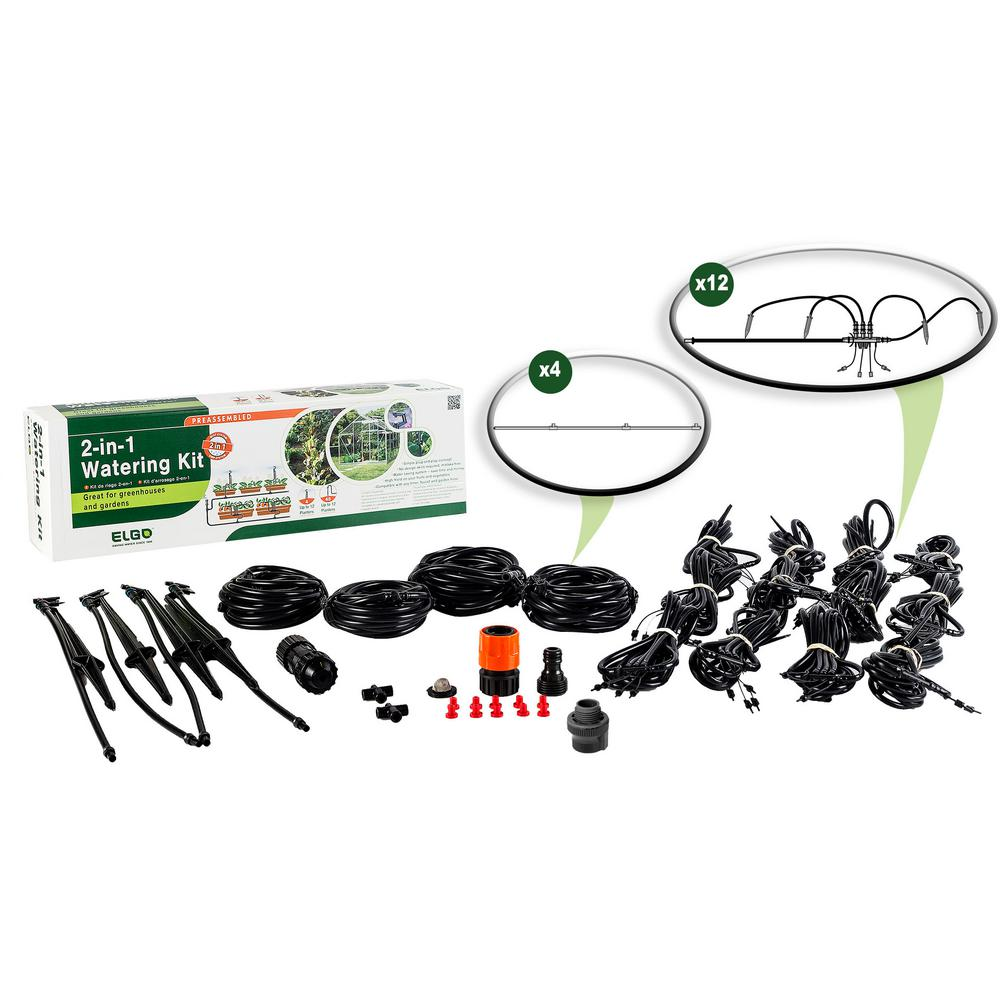 2-in-1 Watering Kit - Misting Sprinklers and Dripper Set