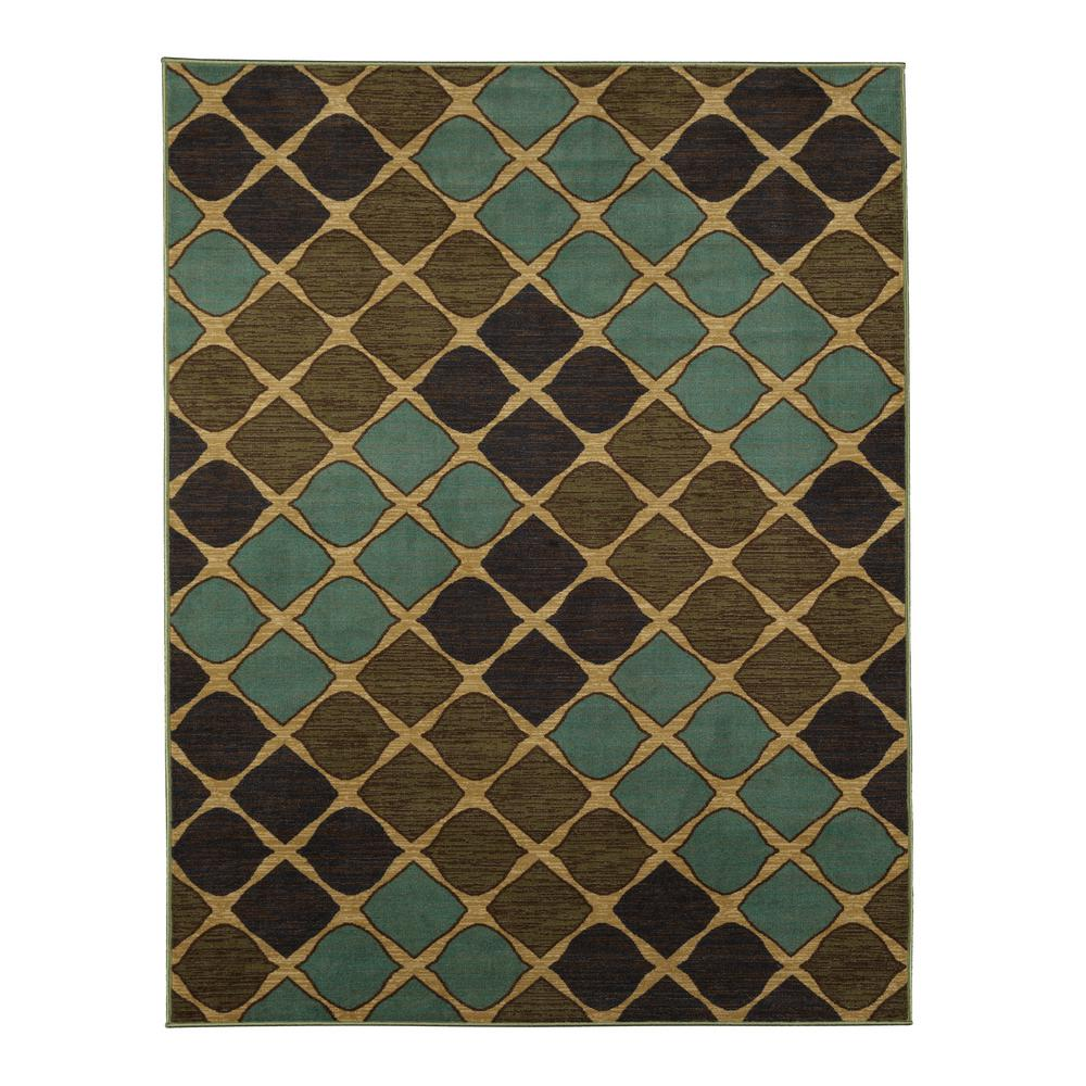 Ottomanson Studio Collection Squares Design Multi 5 Ft X 6 Non Skid
