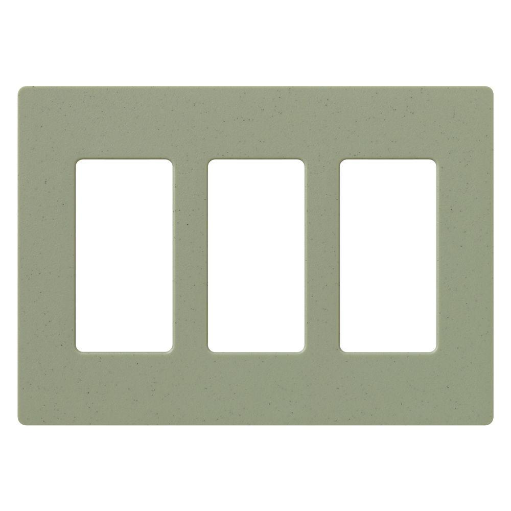 Lutron Claro 3 Gang Decorator Wallplate, Greenbriar