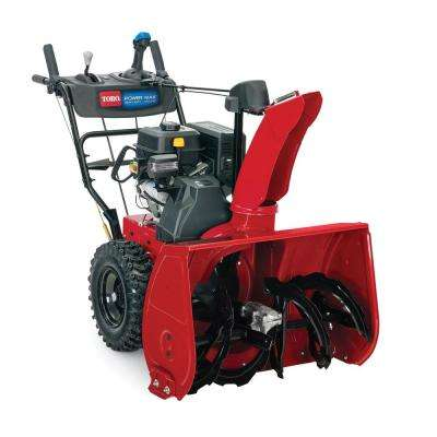 Power Max HD 828 OAE 28 in. 252 cc Two-Stage Gas Snow Blower with Electric Start, Triggerless Steering and Headlight