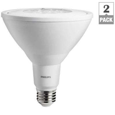 90W Equivalent Warm White PAR38 Non-Dimmable Ambient LED Flood Light Bulb (2-Pack)