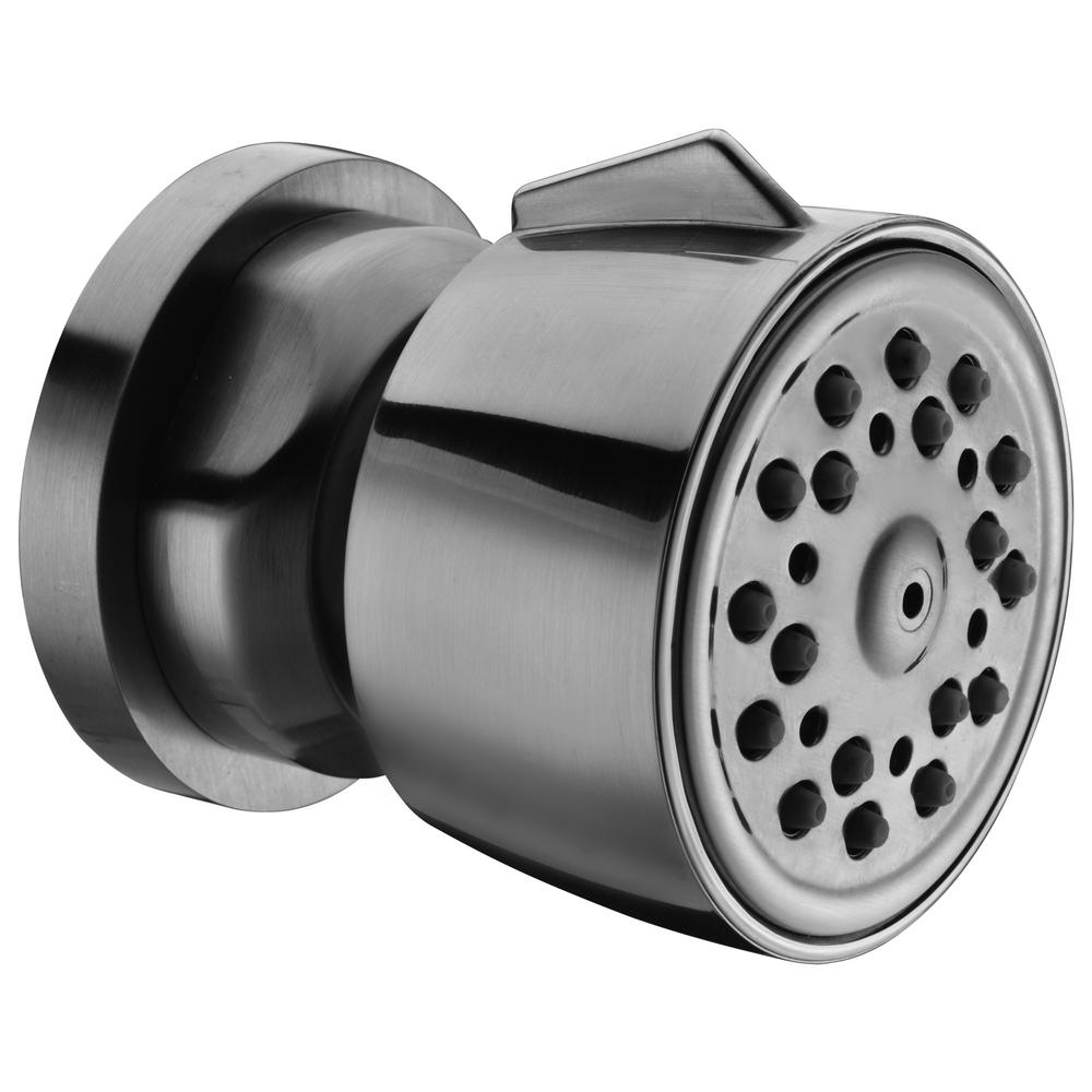 2-Spray 2.14 in. Fixed Shower Head with Adjustable Spray in Brushed